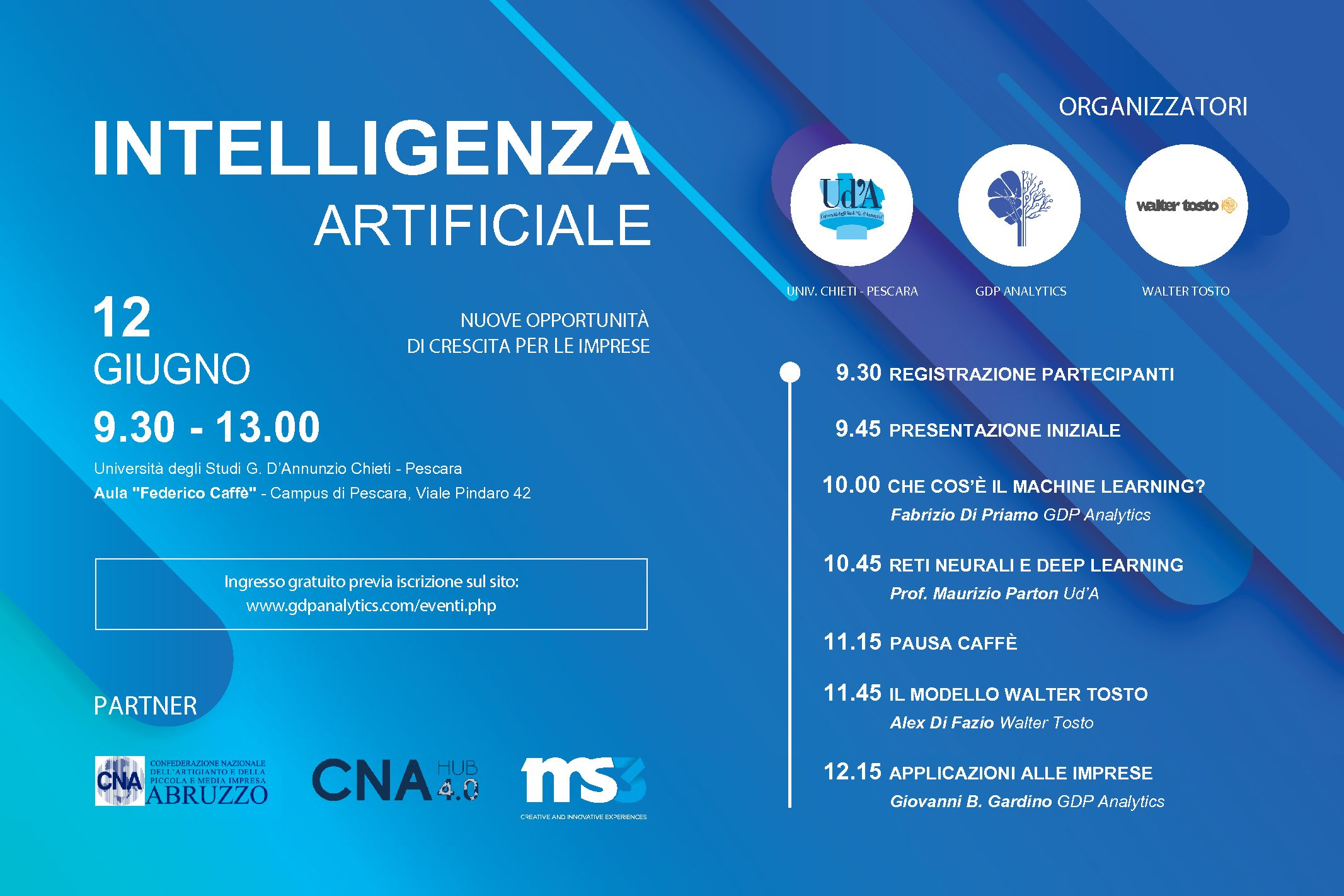 Evento: Intelligenza Artificiale @ UdA Chieti – Pescara